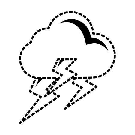 Rainy weather symbol cartoon vector illustration graphic icon