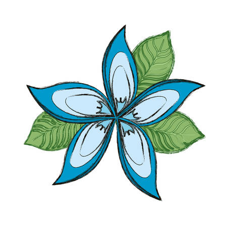 Beautiful flower symbol icon vector illustration graphic design Vettoriali