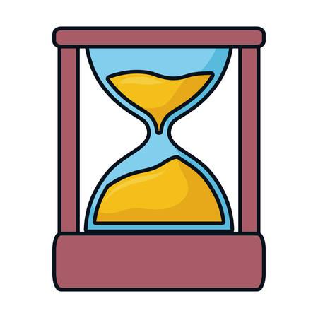 Hourglass antique clock icon vector illustration graphic design