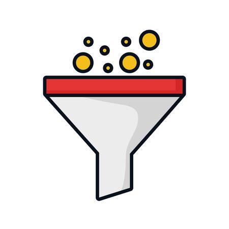 Trichter Labor Filter Symbol Vektor-Illustration Grafik-Design
