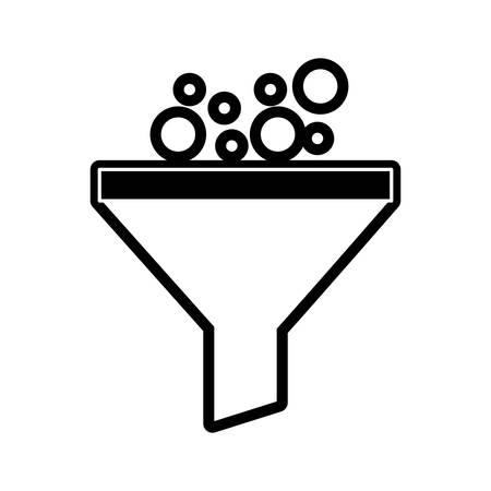 Funnel laboratory filter icon vector illustration graphic design