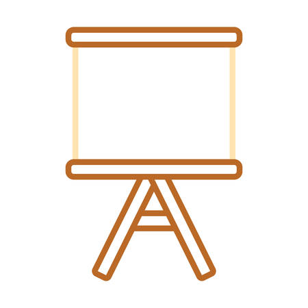 Blank whiteboard isolated icon vector illustration graphic design