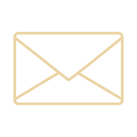 Email or mail symbol icon vector illustration graphic design  イラスト・ベクター素材