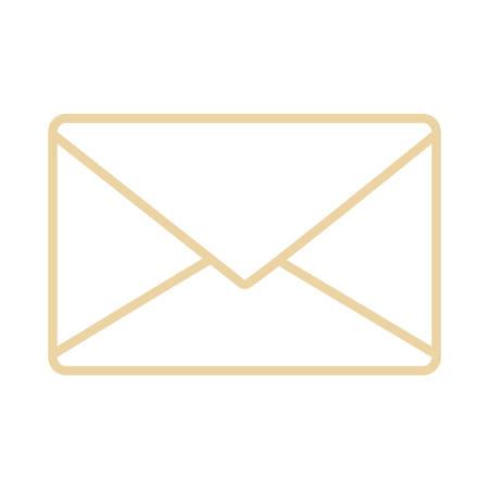 Email or mail symbol icon vector illustration graphic design Vettoriali