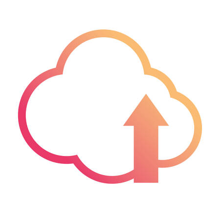 Cloud computing symbol icon vector illustration graphic design