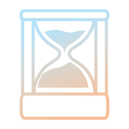 Hourglass antique clock icon vector illustration graphic design.