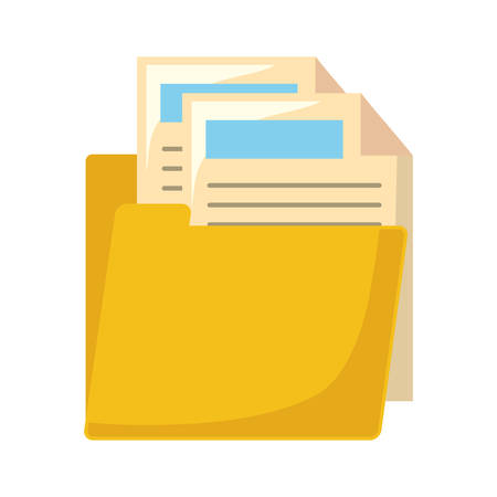 Folder with documents icon vector illustration graphic design