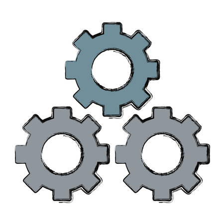 Gears machinery pieces icon vector illustration graphic design.