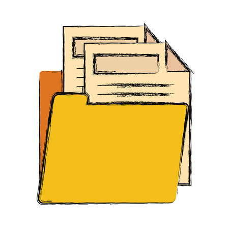Folder with documents icon vector illustration graphic design.