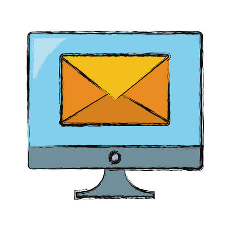 Email computer symbol icon vector illustration graphic design. Illusztráció