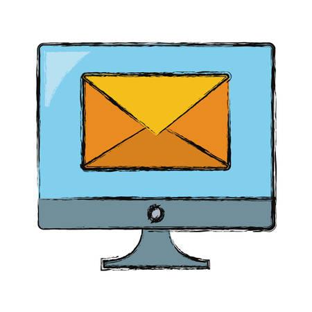 Email computer symbol icon vector illustration graphic design. Vettoriali