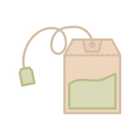Tea bag isolated icon vector illustration graphic design.