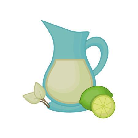Lemonade glass jar icon vector illustration graphic design.