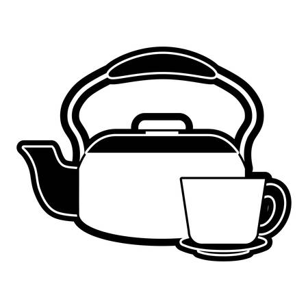 Kettle and cup Illustration