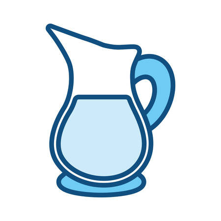 Glass jar with drink icon vector illustration graphic design