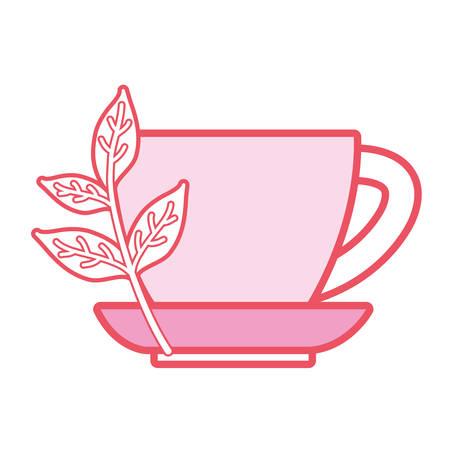 Natural tea cup icon vector illustration graphic design