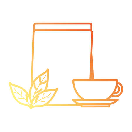 Tea bag and cup icon vector illustration graphic design