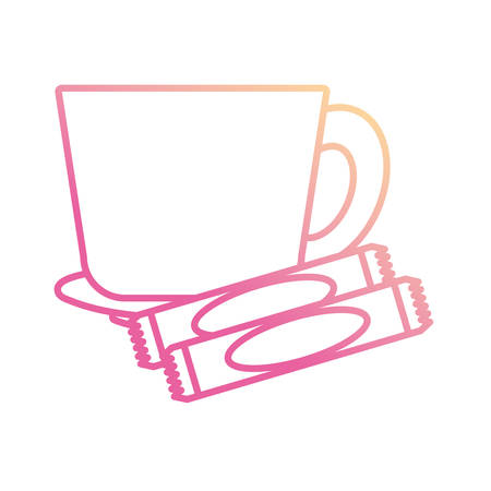 Mug and dish icon vector illustration graphic design Illusztráció