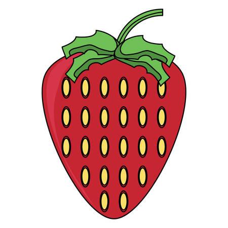 Strawberry fruit icon over white background. Colorful design vector illustration. Illustration