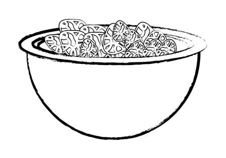 bowl with cereal icon