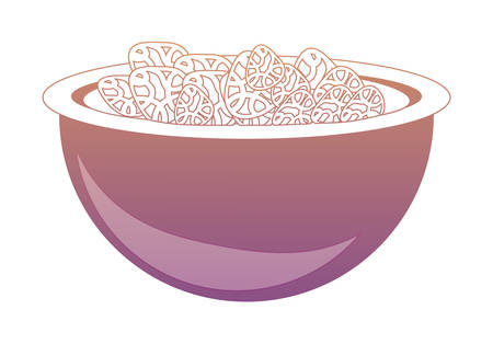 Bowl with cereal icon over white background colorful design vector illustration
