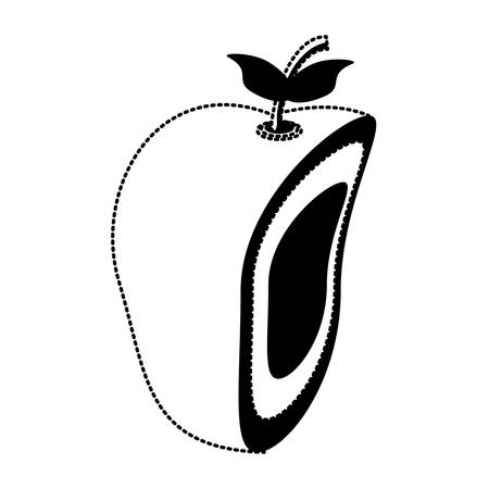 Apple cut in half icon over white background vector illustration