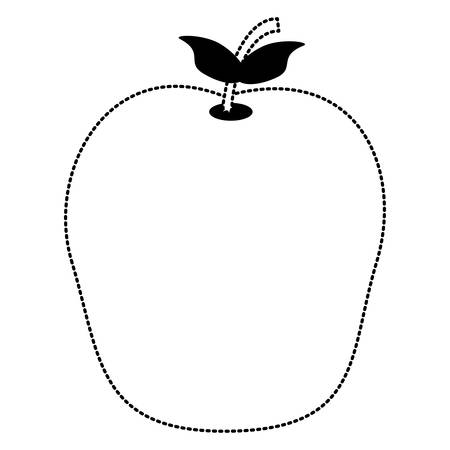 Apple fruit icon over white background vector illustration.