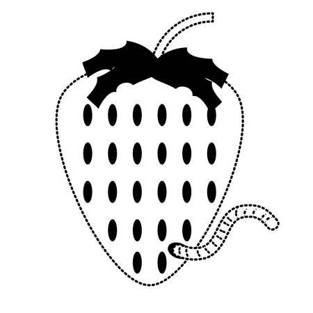strawberry fruit icon Illustration