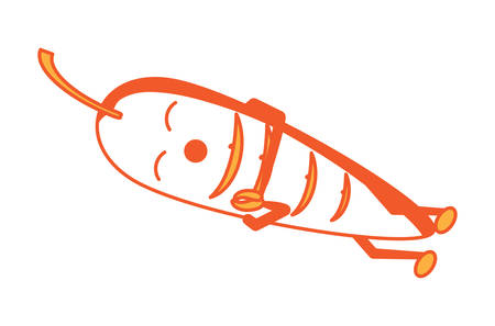 Cite carrot sleeping icon over white background. Colorful design vector illustration.