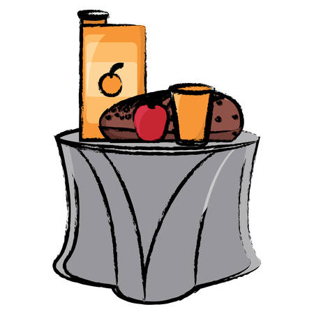 Table with breakfast food icon over white background. Colorful design vector illustration.  イラスト・ベクター素材