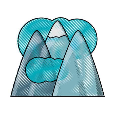 Alps and clouds icon Ilustração