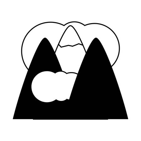 alps and clouds icon Illustration