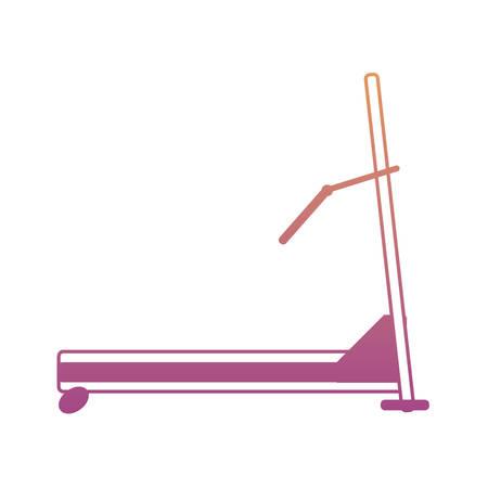 Gym treadmill machine icon over white background colorful design vector illustration