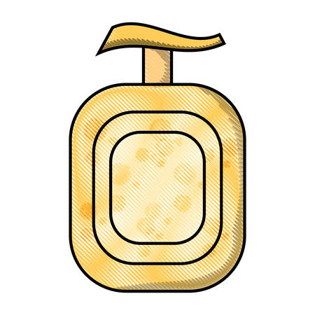 soap bottle icon over white background colorful design  vector illustration