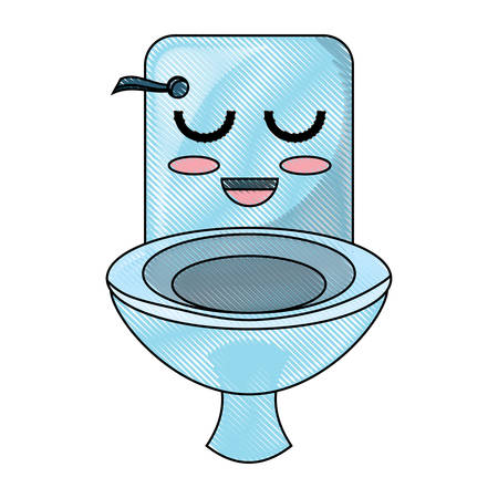 A happy toilet icon over white background colorful design vector illustration