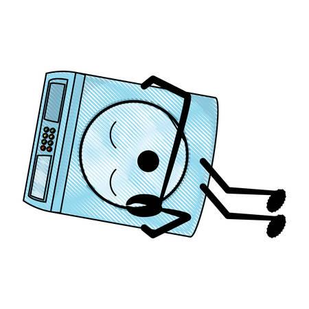 washing machine sleeping icon over white background colorful design vector illustration Illustration