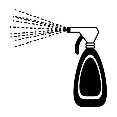 cleaning spray bottle icon over white background vector illustration Illustration