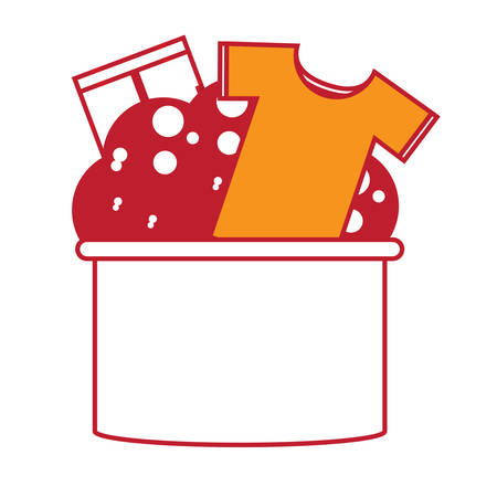 Bucket with clothes Illustration