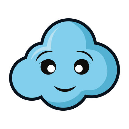 Cloud weather symbol smiling cartoon