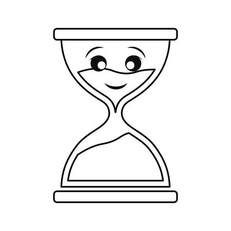 Hourglass antique clock smiling cartoon