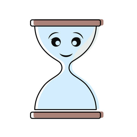 Hourglass empty isolated smiling cartoon Illustration