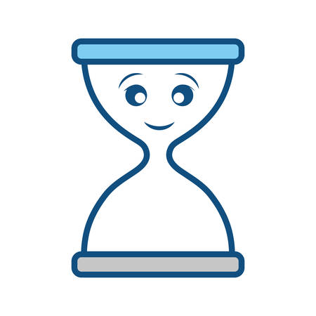 Hourglass empty isolated smiling cartoon Illustration