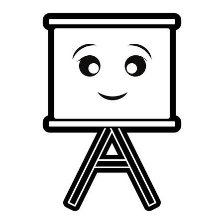 Blank whiteboard isolated smiling cartoon