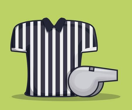 referee shirt uniform american football vector illustration graphic design