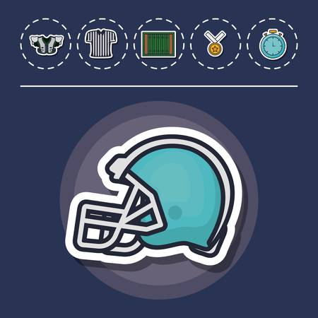 colorfull american football icon