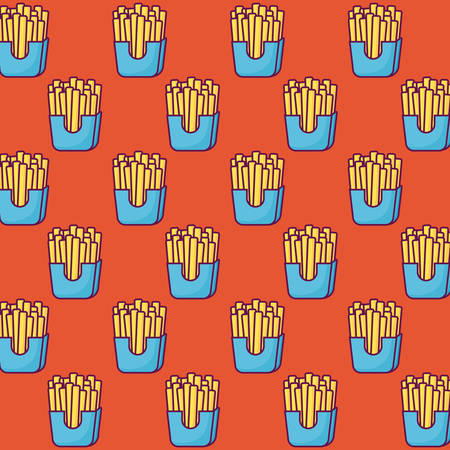 french fries colorful background design vector illustration Ilustrace
