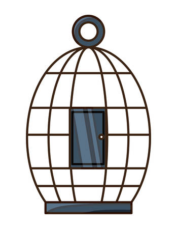 birdcage icon over white background colorful design vector illustration