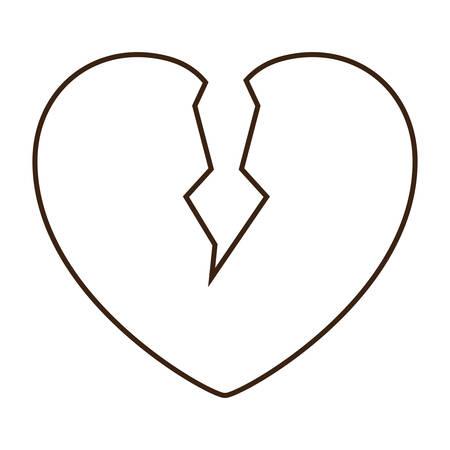 A broken heart icon