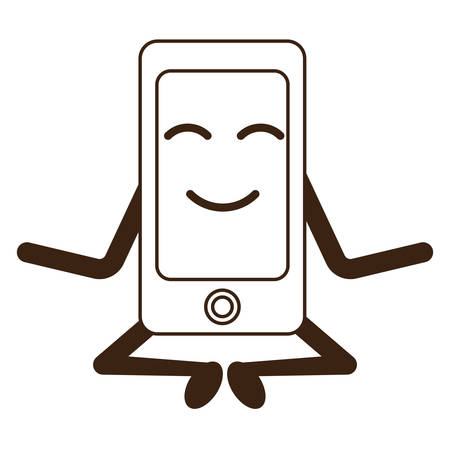 smartphone smartphone intelligent icône sur fond blanc illustration vectorielle Vecteurs