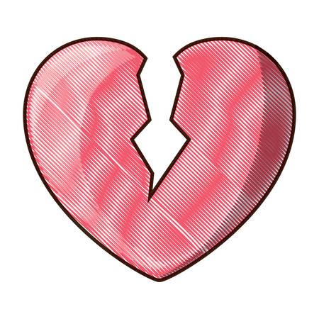 Broken heart icon Ilustração